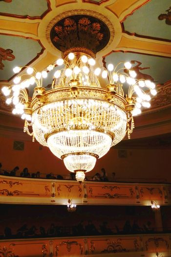 Vertical Decoration Ceiling Illuminated Arts Culture And Entertainment Lighting Equipment Chandelier No People Low Angle View Luxury Indoors  Performing Arts Event Architecture Art Deco Stage - Performance Space Performance Day