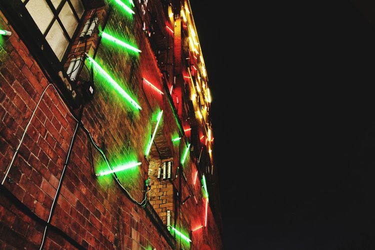 London Nightphotography Night Nightlife Lights Neon Lights Colors Buildings Illuminated Lighting Equipment Multi Colored No People Wall Art Urban Urbanphotography Oxo