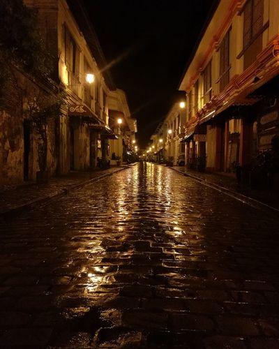 Calle Crisologo at midnight Vigan City Ilocos Sur