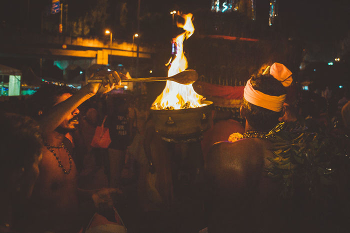 Adult Adults Only Crowd Firework - Man Made Object Illuminated Men Night Nightlife Offering To God Offerings Only Men Outdoors People Real People Thaipusam Thaipusam2016 The Photojournalist - 2017 EyeEm Awards