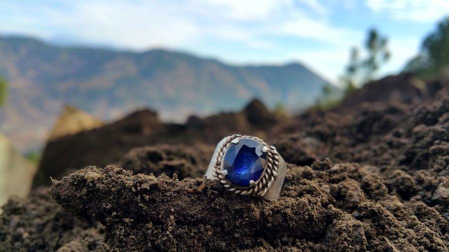 Diamond ring on rock