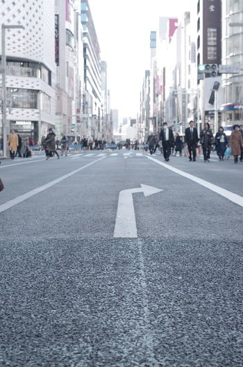 Architecture City Ginza Ginza Tokyo Japan People Road Street Tokyo Winter