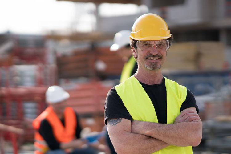 Portrait Of Confident Architect At Construction Site