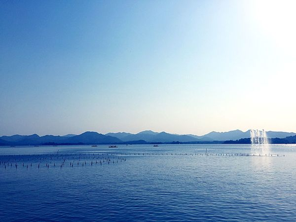 Quiet though it may be Lake Lake View China Hangzhou Light And Shadow Water Fountain Blue Clear Contemplating
