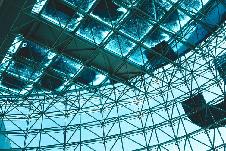 Exceptional Photographs EyeEm Best Shots EyeEm Gallery Ey4photography Check This Out Hello World Architecture Built Structure Low Angle View Pattern No People Modern Glass - Material Geometric Shape Day Metal Full Frame Indoors  Ceiling Building Grid Backgrounds Shape Design Capture Tomorrow