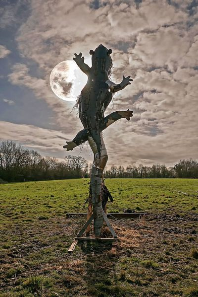 ZAD Notre Dame Des Landes Beauty In Nature Cloud - Sky Day Field Grass Human Representation Landscape Nature No People Outdoors Scarecrow Sculpture Sky
