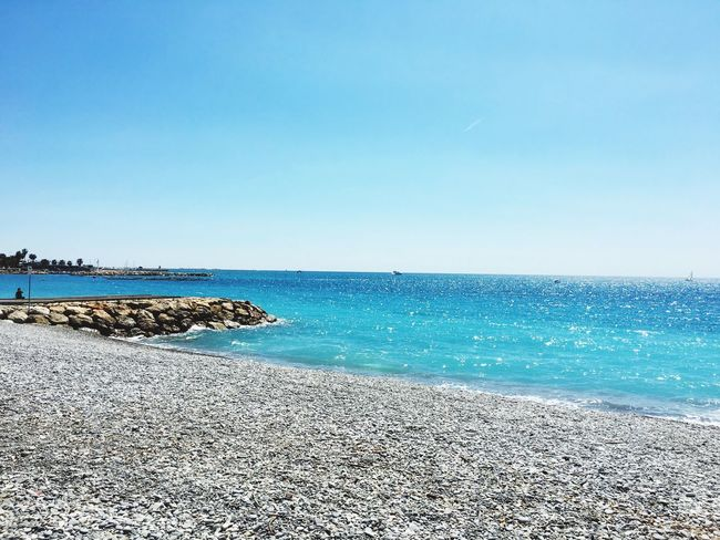 Sea Blue Clear Sky Beach Horizon Over Water Water Scenics Nature Sunlight Tranquil Scene Tranquility France Summer Sun EyeEm Nature Lover Beauty In Nature Blue Sky Tranquility Sea And Sky Lovely Weather Outdoors Day Sand No People Sky