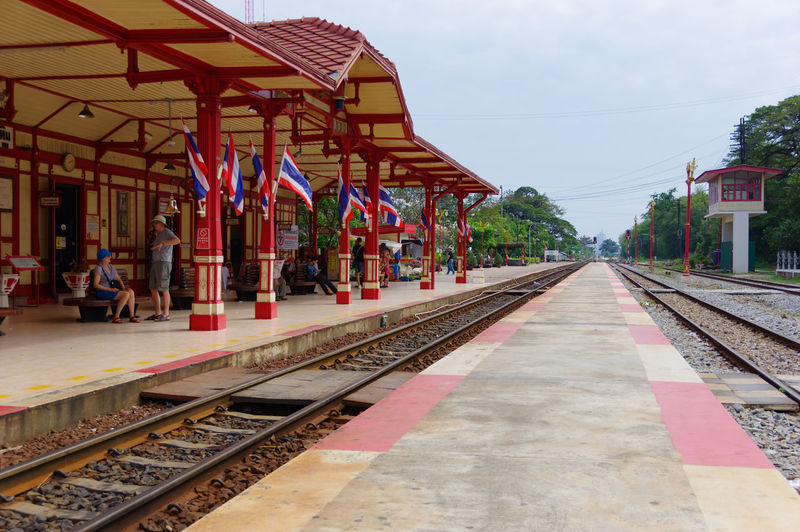 Architecture City Day Hua Hin No People Old Times Outdoors Pentax Pentax K-3 Ll Rail Transportation Railroad Station Railroad Station Platform Railroad Track Sky Thailand The Way Forward Train - Vehicle Train Station Transportation Travel Vintage
