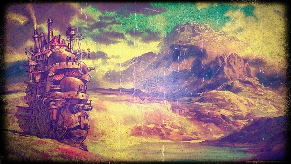 ♥ Howl's Moving Castle - Studio Ghibli Hello World Hayao Miyazaki Movies Photoshop Edit