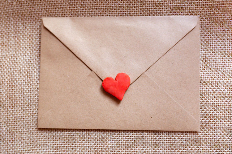 Directly above shot of heart shape on paper