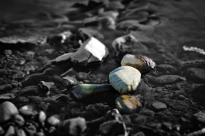 Pebble Environmental Issues Stone - Object Outdoors Close-up No People Day River Nature Non-urban Scene Beauty In Nature Water Tiltshift Break The Mold Break The Mold The Great Outdoors - 2017 EyeEm Awards