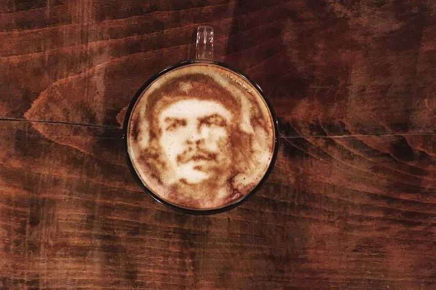 Coffeekesh-My Work Coffeekesh Dadbeh Konjcafe Cafe Coffee Latteart ArtWork Sketch Painting Portrait Espresso Cheguevara