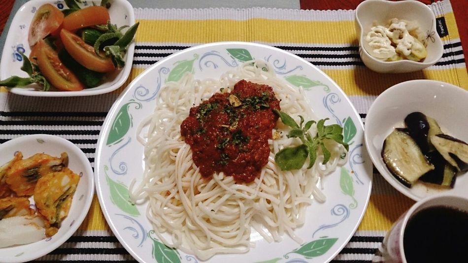 お疲れ様でした☆ Salad Food Porn Japanese Food Yummy Dinner Udon Noodles