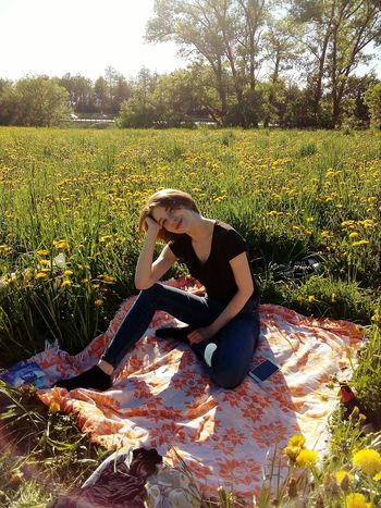 Pets Full Length Dog Shadow Sunlight Field Grass Sky