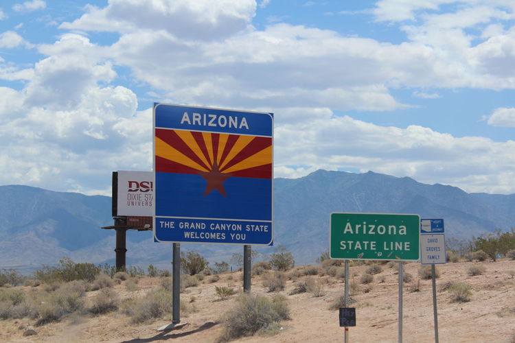 Arizona Entering Guidance Information Sign Interstate Views Road Sign Roadtrip Roadtrip Signs Roadtrippin' State Signs