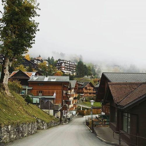Wengen (Switzerland) - all the way to our hotel Wengen Village Mountain Peaceful