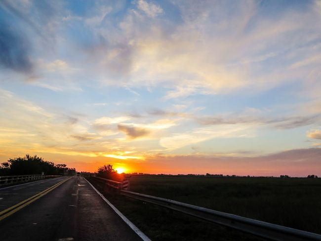 Sunset Road Sky Transportation The Way Forward Cloud - Sky Nature No People Scenics Outdoors Landscape Beauty In Nature Day