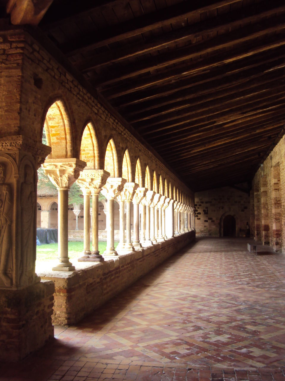 VIEW OF COLONNADE IN OLD BUILDING