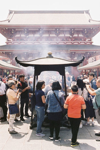 Sensō-ji on film 35mm Film Tokyo Street Photography Tokyo,Japan Asakusa Buddhist Temple Film Photography Fuji400h Large Group Of People Place Of Worship Religion Sensoji Temple  Spirituality Temple Tourism