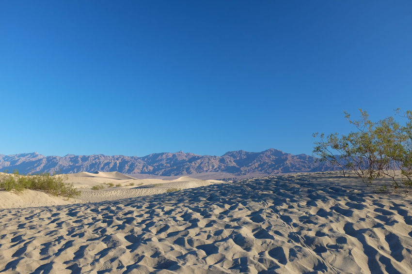 Environment Landscape Scenics - Nature Mountain No People Desert Land Clear Sky Arid Climate Outdoors Beauty In Nature Tranquil Scene Blue Tranquility Nature Non-urban Scene Dunes Sand Sand Dune