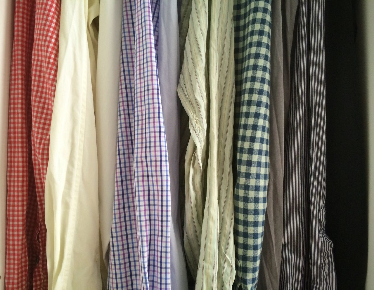 Button Down Shirt, Checked Pattern, Choice, Close-Up, Closet