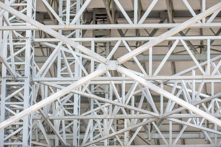 Full frame shot of metallic girders