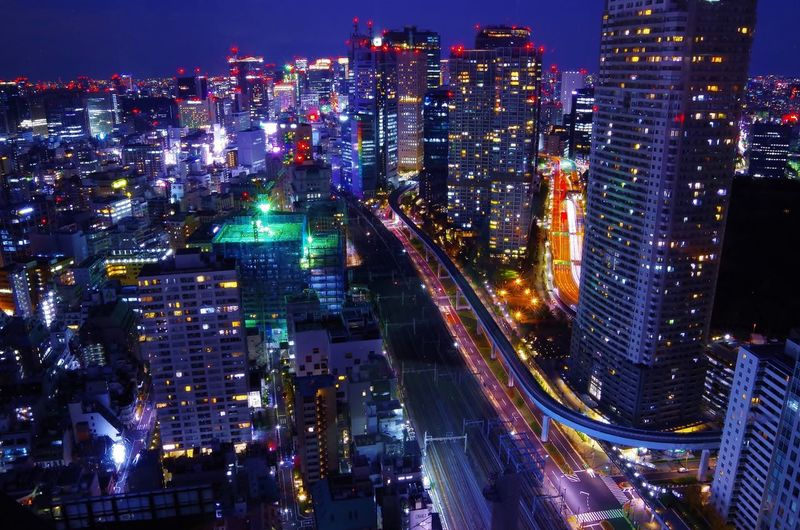 Be. Ready. for the Future 🌏 Part 3 in Tokyo 💙 Japan Photography Tokyo Night Downtown District Nightphotography High Angle View Night Modern Skyscraper City Life Cityscape Traffic Speed Modern Life Big City Life Metropolis Development Illuminated Tall Buildings Urban Skyline ASIA Life Light And Shadow