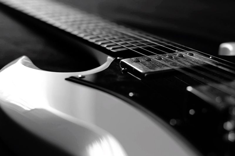 Cropped Image Of Electric Guitar