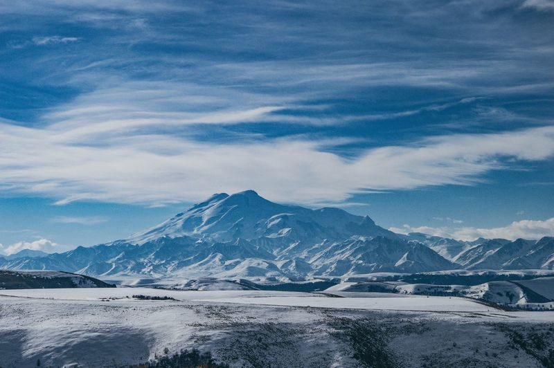 Elbrus Elbrus EyeEm Selects Mountain Winter Cold Temperature Scenics - Nature Snow Beauty In Nature Sky Landscape Mountain Peak No People