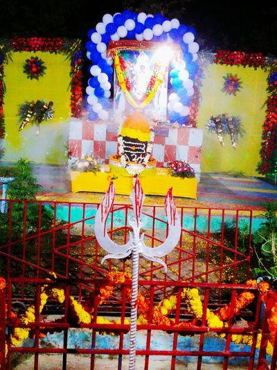Mahashivratri Celebration Religious  Decoration Mahashivratriindia MahaShivRatri Public Gathering Alone Multi Colored No People Outdoors Day Close-up Pixelated