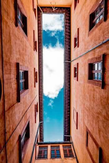 Apartment Architecture Building Exterior Built Structure City Cloud - Sky Day Low Angle View No People Outdoors Residential Building Sky Window