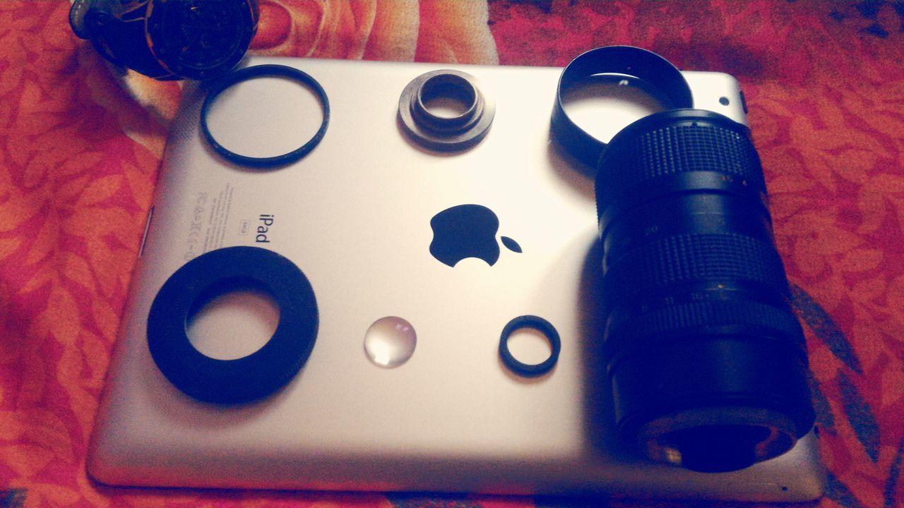 Indoors  Apple IPad Camera Dslr Lens Dissambleling Daylight Picasso Watch