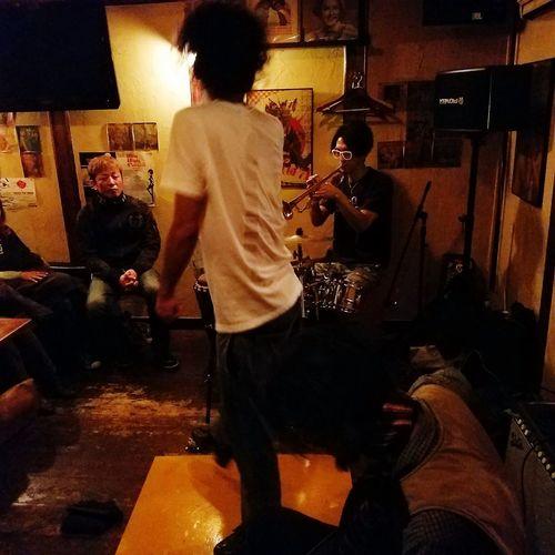 Conguero Tres Hoofers 2016.11.23 Tap Tap Dancer Saro Night Event Music Music And Dancer CTH Japan Japon Kyusyu Noche Música Y Toque Saro Tap Dancer