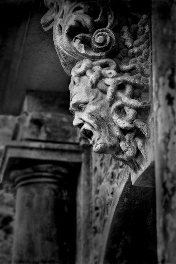 Adelheid Castle Close-up Day Face Gargoyle Geist Geisterstatue Germany Gohst Hainewalde Low Angle View Medusa Medusastone Mystic No People Outdoors Scarry Scarry Face Schloss Spuk Spukschloss Statue Stone Medusa