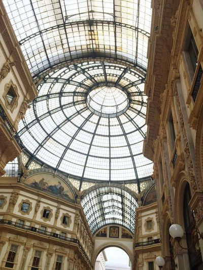 View of glass dome roof