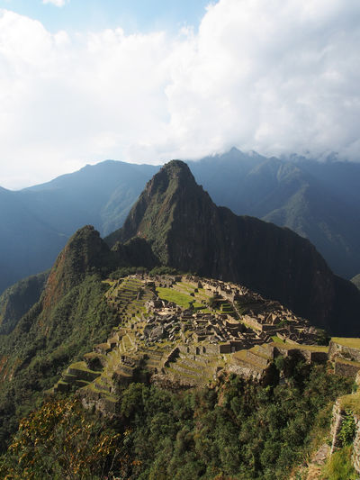 Incan City of Mach Picchu near Cuco, Peru Machu Picchu Ancient Civilization Beauty In Nature Cloud - Sky Day Environment Heritage Site Inkas Landscape Mountain Mountain Peak Mountain Range Nature No People Non-urban Scene Outdoors Scenics - Nature Sky Tranquil Scene Tranquility