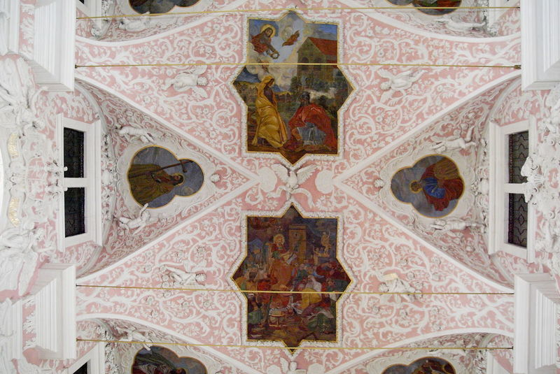 Arch Architecture Art And Craft Baroque Baroque Architecture Catholic Church Catolic Church Ceiling Church Church Ceiling Day Frescoes Indoors  No People Pattern Pink Pink Color Place Of Worship Religion Saint Catherine's Church St Catherine's Church Vault
