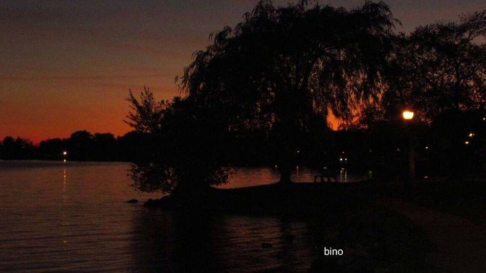 Evening Sunset Around The Lake Illuminated Silhouette Cool_capture_ No People Beautiful Night Sky Lake Cadillac Pure Michigan