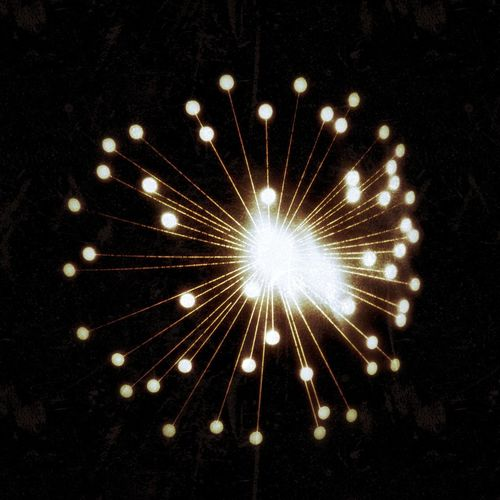 Light Light Glow Lamp Stripes Grunge Motion