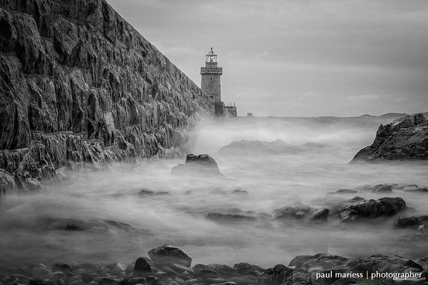 EyeEm Best Shots - Landscape Landscape_Collection Eye4photography  Monochrome Eyem Best Shots Guernsey Fine Art Photography Water_collection Seascape Sea And Sky EyeEm Best Shots Sea Harbour Lighthouse Eye4black&white  Blackandwhite Showcase: January