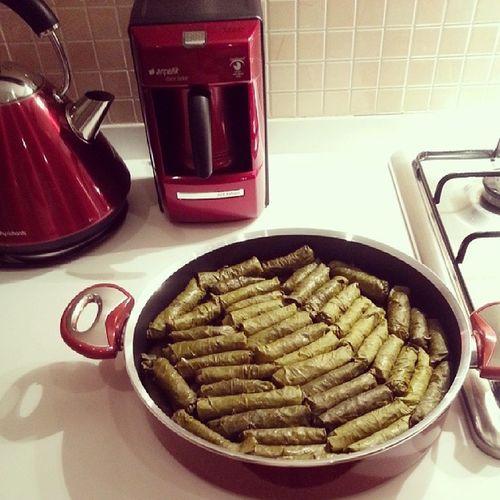 Artık sarma da yapmadım demem ? Zeytinyagli Sarma Dolma Homemade green mykitchen kitchen sunumonemlidir details