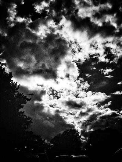 #clouds #moody #sky #iphone5 #snapseed #blackandwhite