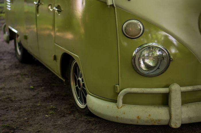Oldtimer Cars Green Volkswagen Volkswagenbus Detail Tyre