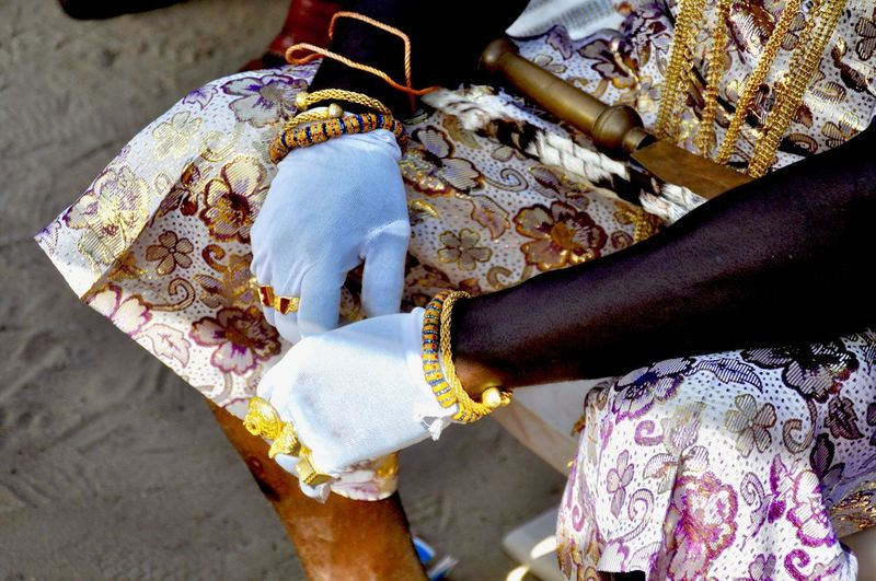 African Ghana Gold Tradition Traditional Culture Tribal Africa Bracelet Celebration Chief Floral Pattern Focus On Foreground Gloves Hand Human Body Part Human Hand Indigenous Culture Indigenous People Jewellery Midsection One Person Traditional Clothes Traditional Festival Tribal Culture Tribe Wealth Adult