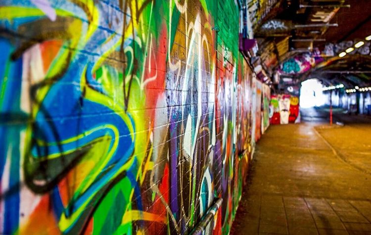 """Colour Of Life """"The Tunnel"""" at Leake Street, famous graffiti area in London Colorful Graffiti Graffiti Art Streetart/graffiti Streetart Street Photography Color Explosion No People Urban Lifestyle Urban Photography Interesting Places Streetphotography Leake St The Tunnel Color Palette London Lifestyle Neon Life Art Is Everywhere The Street Photographer - 2017 EyeEm Awards Neighborhood Map EyeEm LOST IN London Your Ticket To Europe Mix Yourself A Good Time Paint The Town Yellow An Eye For Travel Stories From The City"""