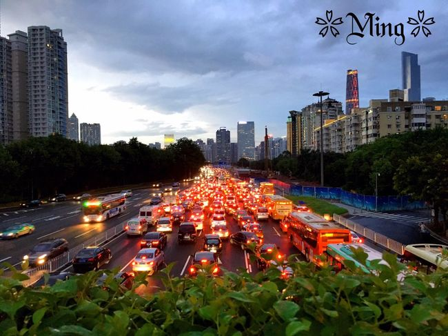 Taking Pictures China On The Road Vew From My Eyes Traffic