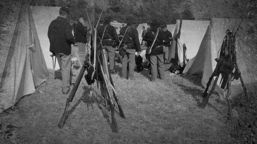 Preparing for war. Civil War Soldiers Unionsoldiers war Blackandwhite