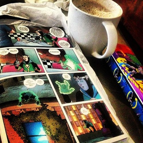 Hot Chocolate & Young Avengers <3 Starbucks Ya Mug Comics Marvel Loki Youngavengers Kidloki
