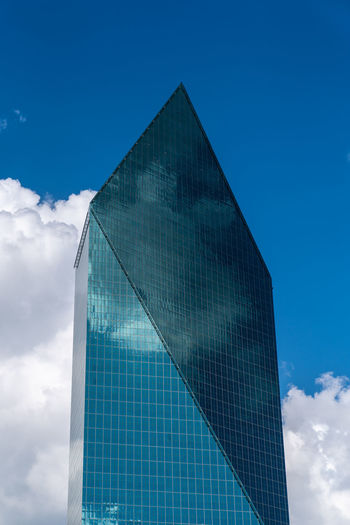 Architecture Blue Building Building Exterior Built Structure City Cloud - Sky Day Glass Glass - Material Low Angle View Modern Nature No People Office Office Building Exterior Outdoors Reflection Sky Skyscraper Tall - High Tower