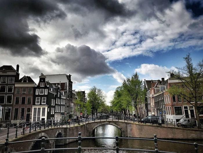 Just loving Amsterdam! 😍 Capital City Bridge Cloud Cloud - Sky Canal Amsterdam Water Outdoors Building Nature Residential District